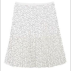 Halogen Printed Pleated Midi Skirt